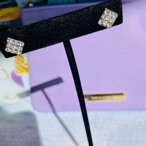 Austrian Crystal Earrings in a Square Setting